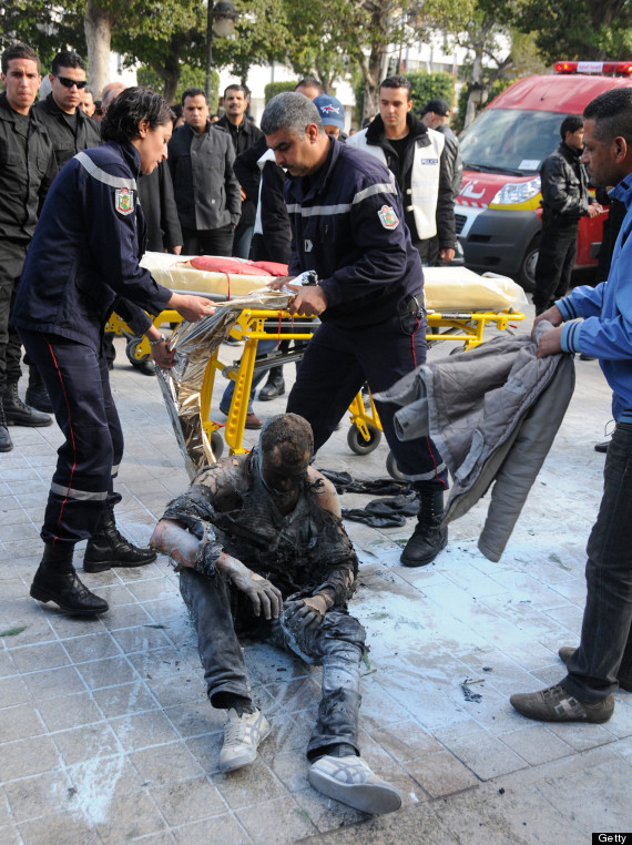 GRAPHIC WARNING: Tunisian man sets himself on fire in ... Arab Spring Man On Fire